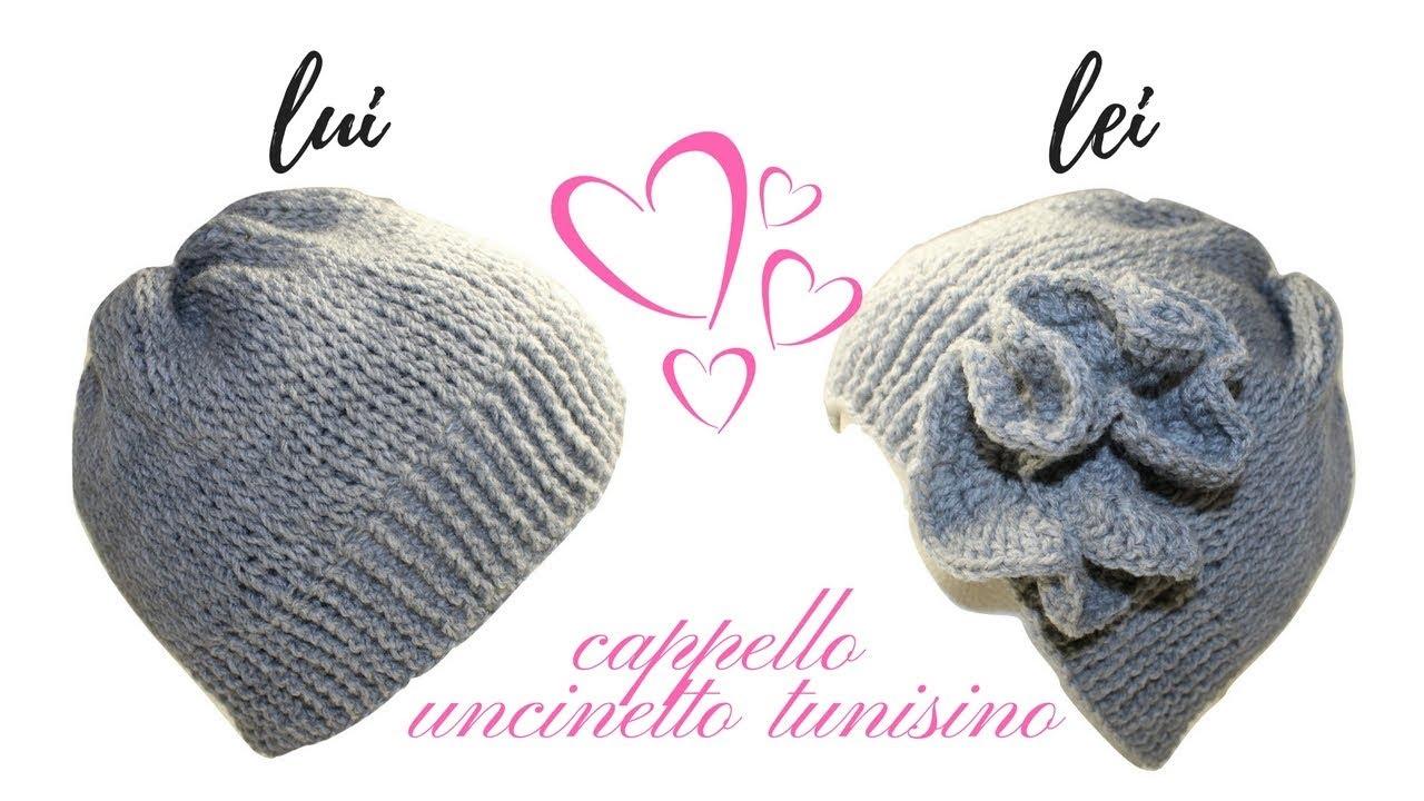a piedi scatti di bello design classcic TUTORIAL: cappello unisex a punto tunisino/ tunisian  crochet***lafatatuttofare
