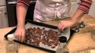 Orange Pomegranate - Shortbread Toffee Bars