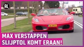 Zien! Slijptol neemt eerste rijles in Ferrari!