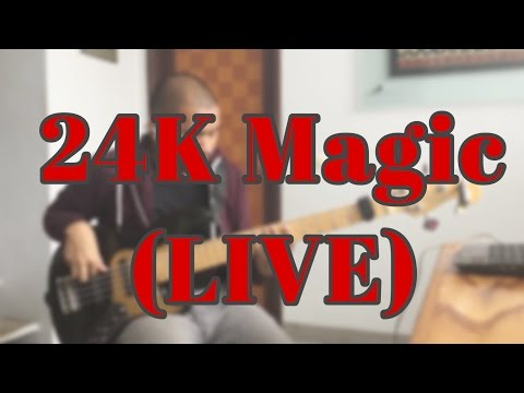24K Magic (LIVE) - Bruno Mars - BASS COVER