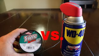 The TRUTH of WD40 vs MONO Fishing Line!