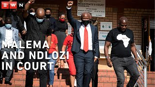 The trial of EFF leader Julius Malema and EFF member of Parliament Dr Mbuyiseni Ndlozi began at the Randburg Magistrates Court on 28 October 2020. Ndlozi and Malema allegedly assaulted a police officer after they were refused entry at the cemetery where Winnie Madikizela-Mandela was being buried.