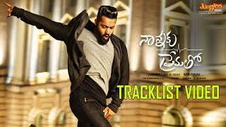 Watch and share tollywood's most awaited movie nannaku prematho tracklist.audio releasing on 27th december 2015. this film features young tiger ntr, rakul pr...