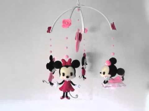 Minnie mouse crib mobile handmade by gracinhas artesanato youtube - Minnie mouse mobel ...