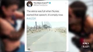 UFC Fighters react to Amanda Nunes TKO Raquel Pennington at UFC 224