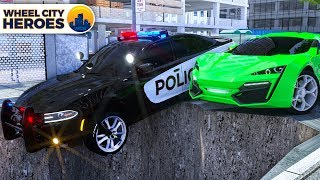 Sergeant Lucas the Police Car Saving Stuck in a Puddle Van - Wheel City Heroes (WCH) New Cartoon