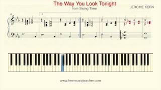 "How To Play Piano: ""The Way You Look Tonight"" from Swing Time Piano Tutorial by Ramin Yousefi"