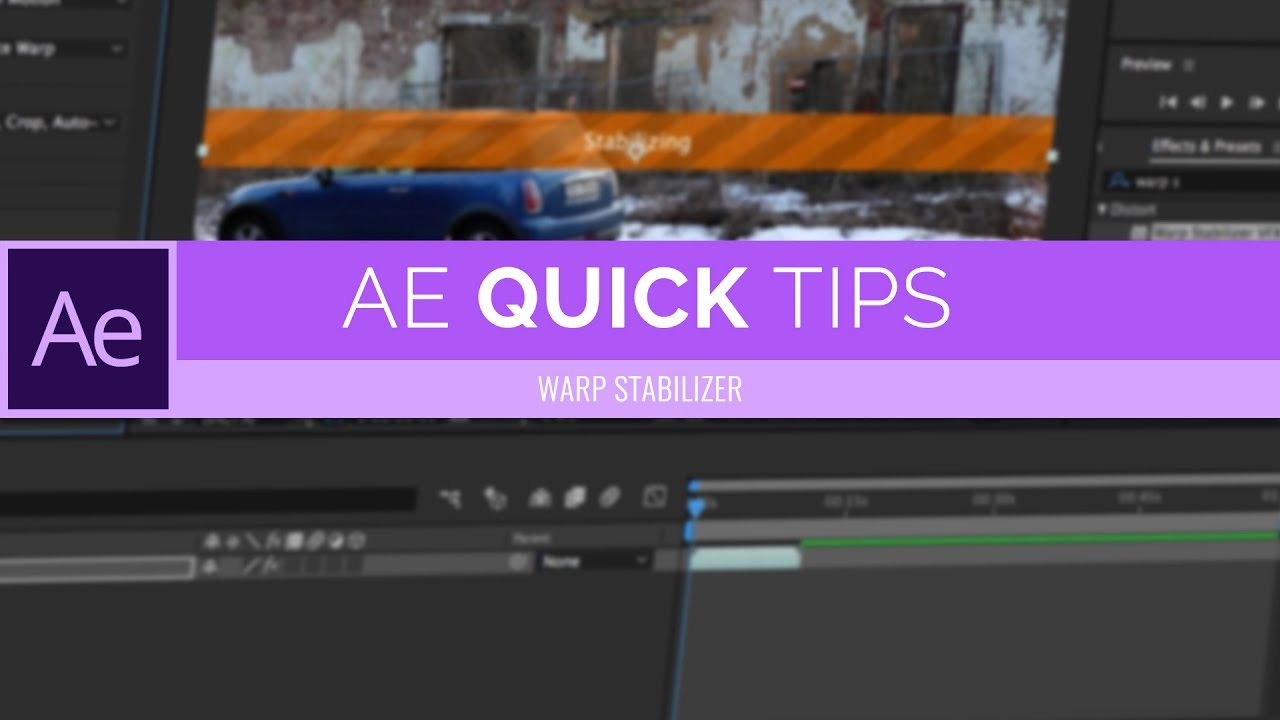 How To Stabilize Your Videos | After Effects CC Quick Tips