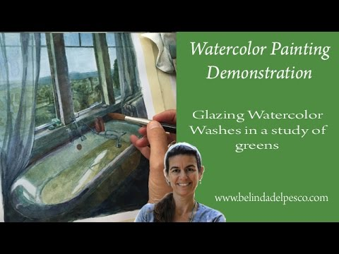 How to use Watercolor Glazes: Painting in layers for more control in watercolors