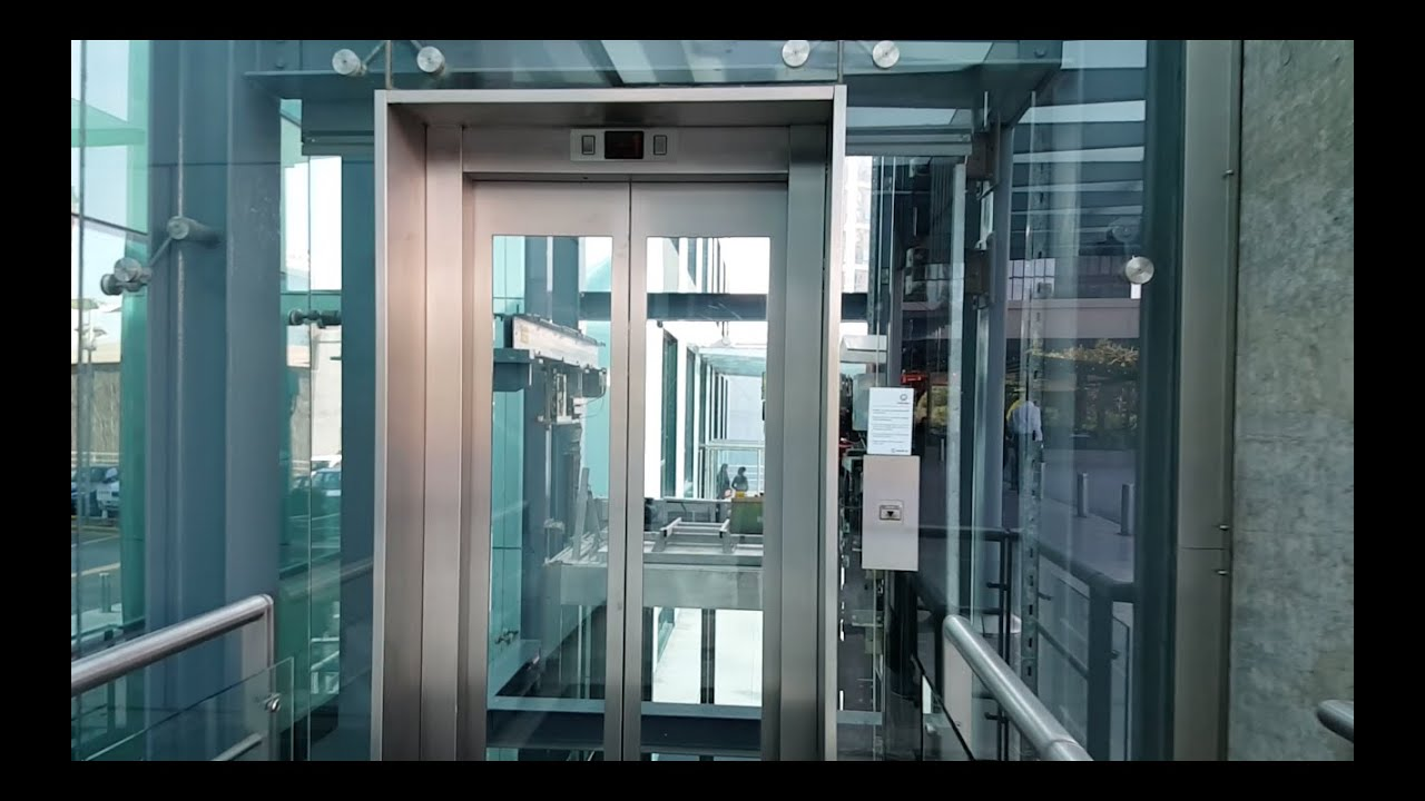 Amazing Full Glass Schindler Mrl Elevator At Sun Plaza