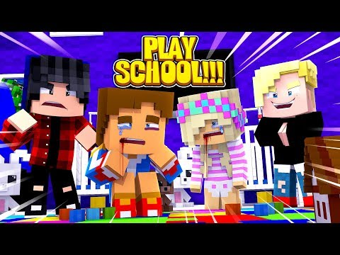 Minecraft PLAY SCHOOL || BABY LEAH AND BABY DONNY ARE BULLIED IN PLAY SCHOOL!!!