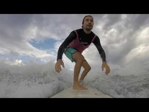 Surfing Mettams Pool in Perth, Western Australia for Fluro Friday