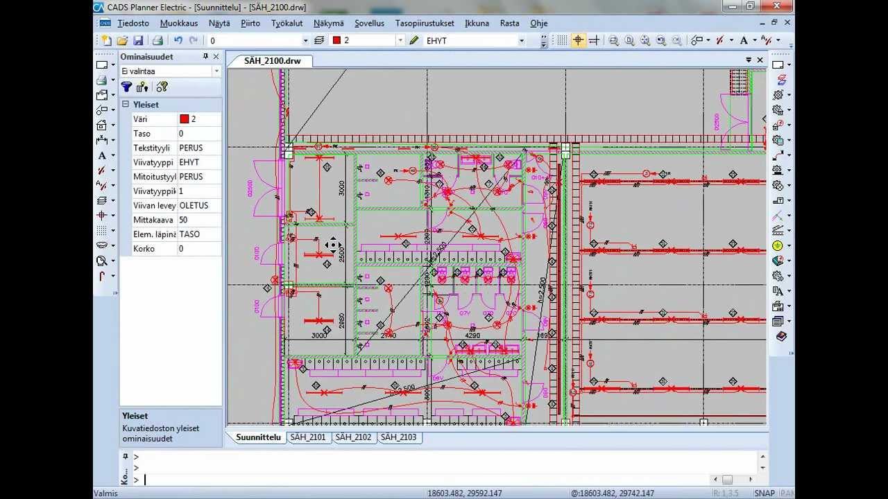 m r laskenta hetkess cads planner electric tasopiirustukset sovelluksessa [ 1280 x 720 Pixel ]