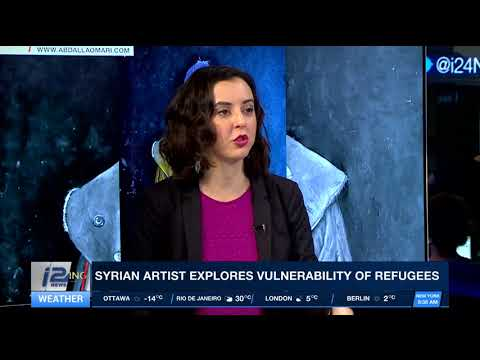 Syrian artist paints world leaders as refugees