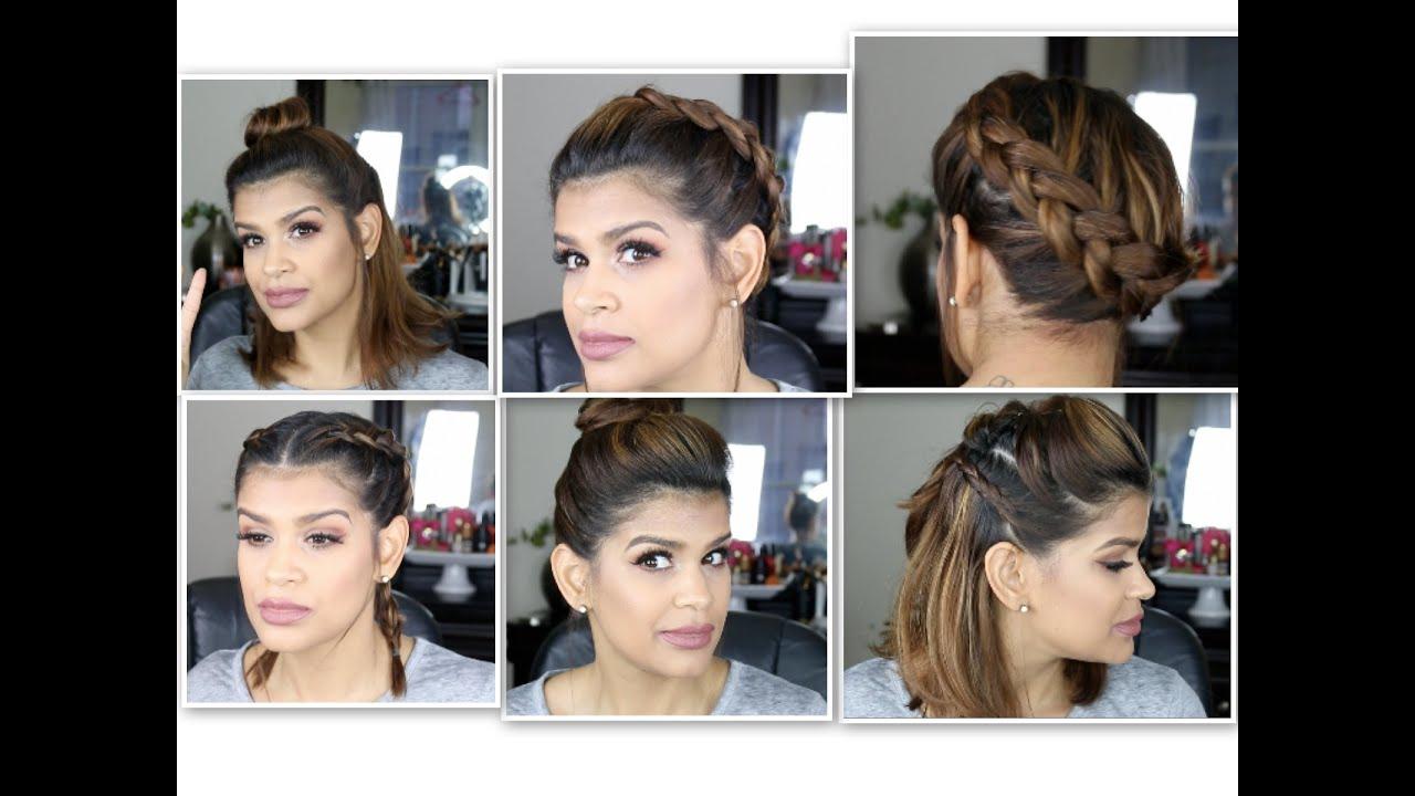 5 Peinados Para Pelo Corto Colaboracion Con Brenzzvlog Youtube