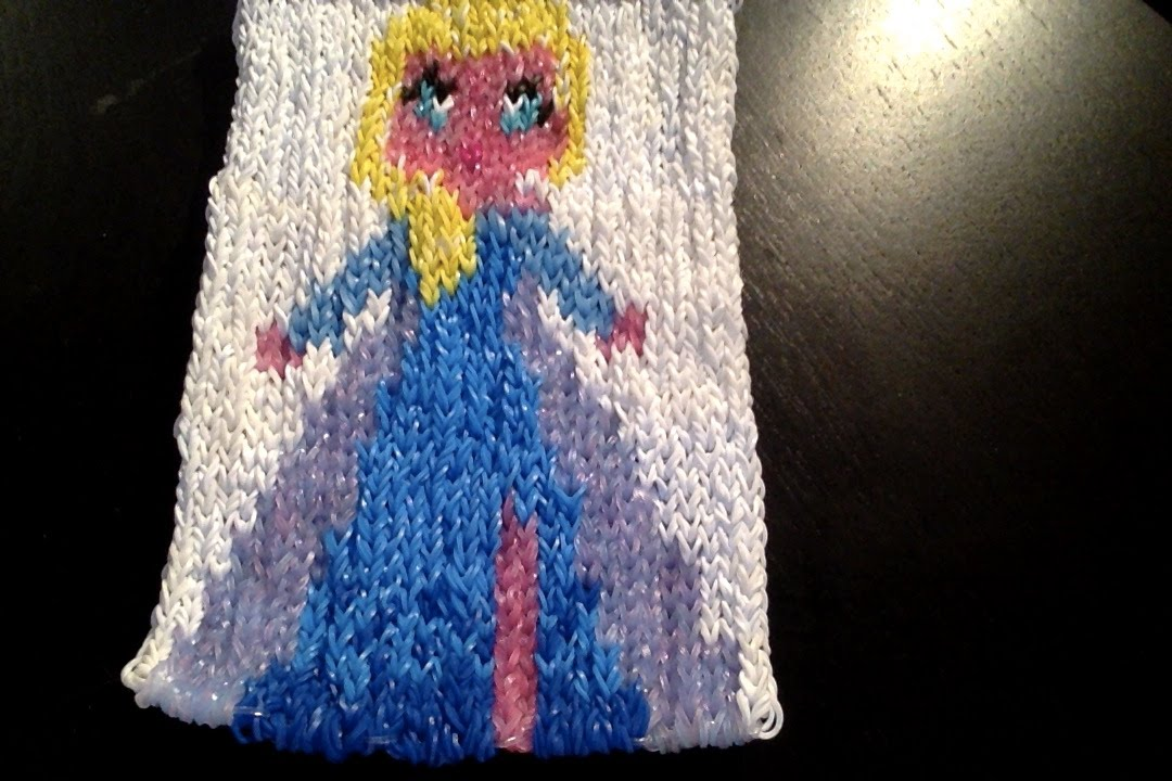 Mural la reine des neiges craz loom tutoriel en fran ais youtube for Mural en elastique