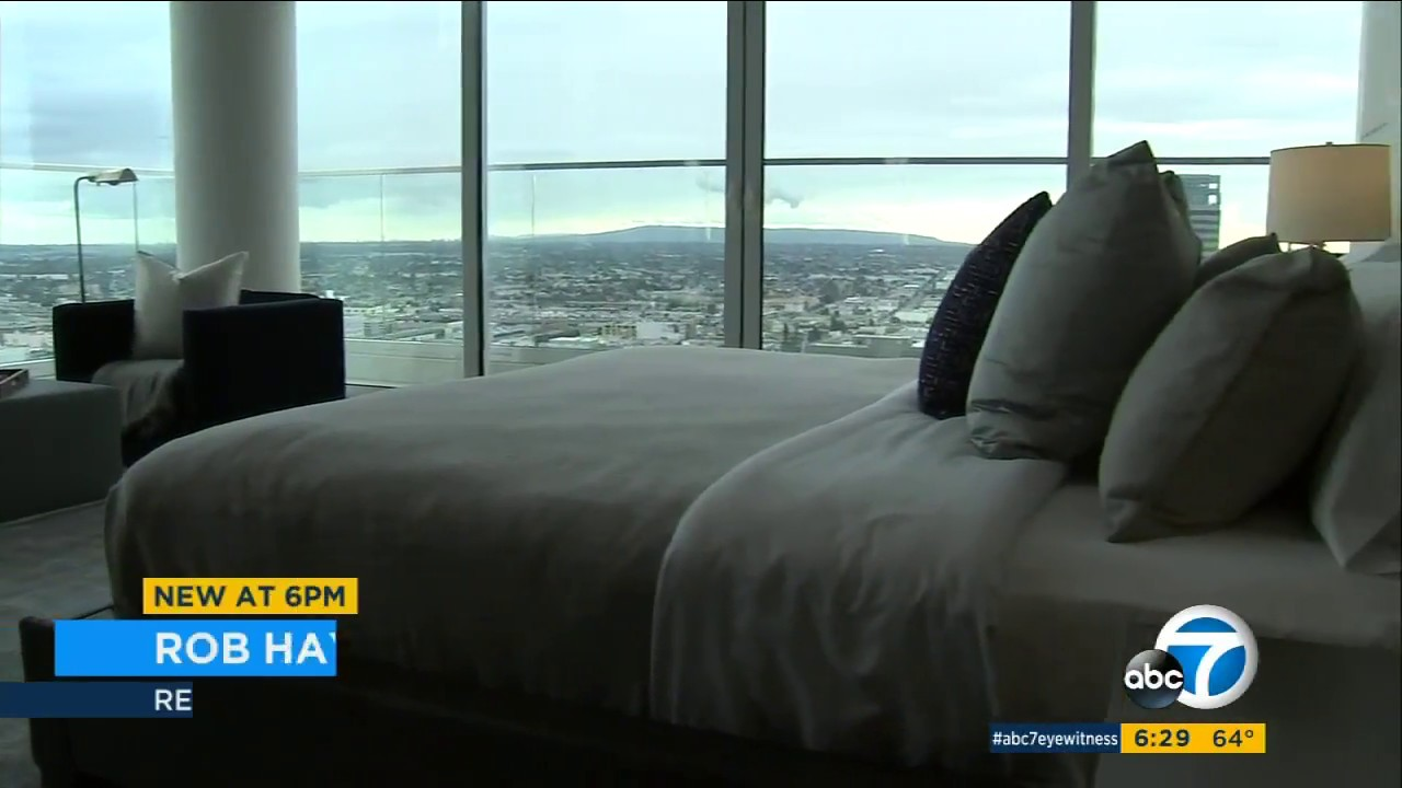 downtown los angeles penthouse rental listed for 100k per month