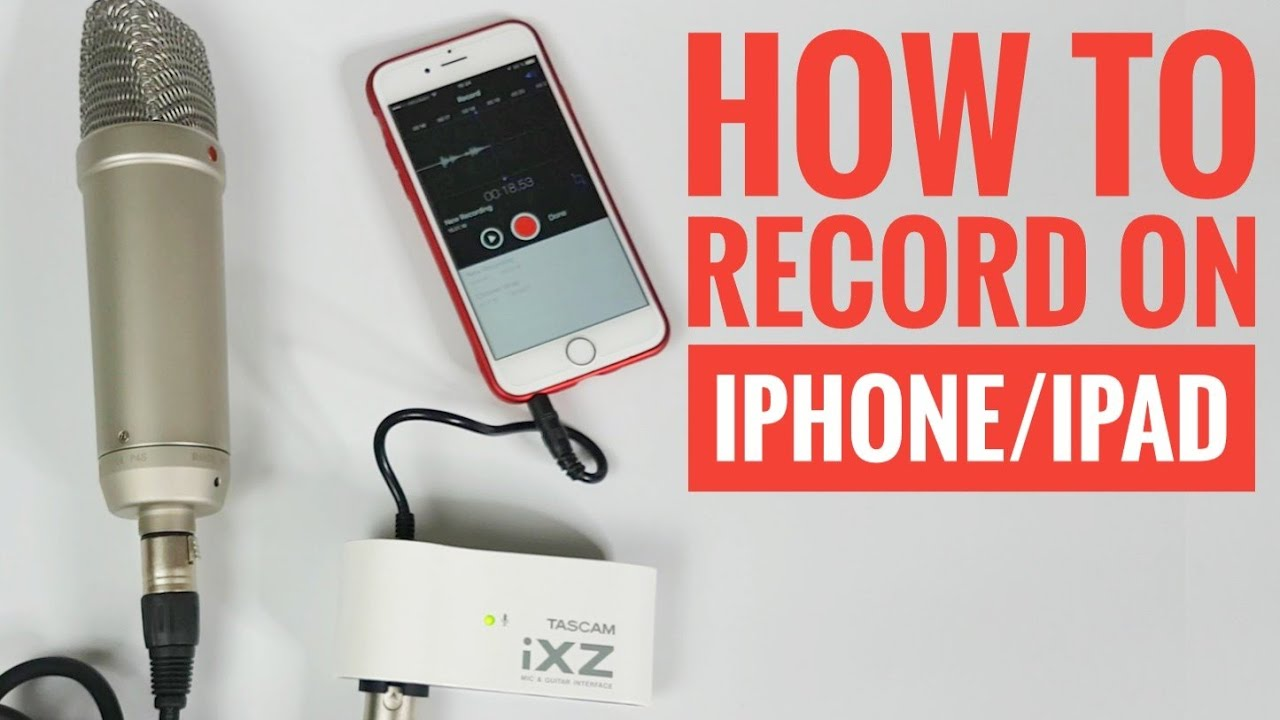 How to connect Rode NT1-A Microphone with iPhone iPad - Tascam iXZ Mic    Guitar interface 2b09ac21d627