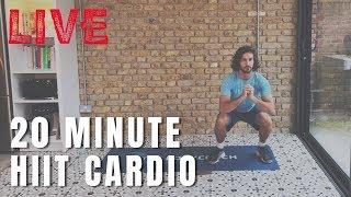 20 minute HIIT cardio LIVE with Joe