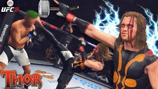 Thor Knocking People Out With His Hammer! The POWER! EA Sports UFC 2 Ultimate Team!