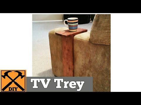 How to make a TV stand -- for the arm of your couch