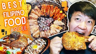 BEST Filipino Food! MASSIVE BEEF RIBS & KOREAN GRILLED CHICKEN in Seoul South Korea