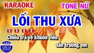 Karaoke Lối Thu Xưa | Nhạc Sống Rumba Tone Nữ Beat | Karaoke Tuấn Cò