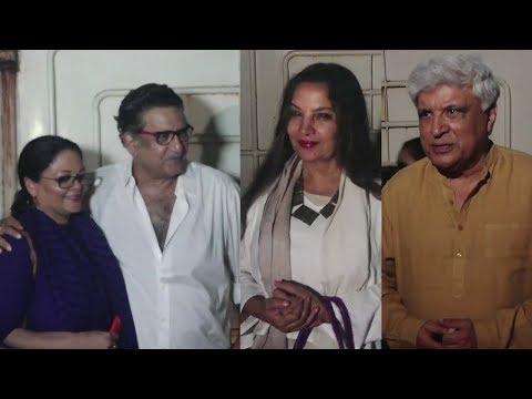 Javed Akhtar,Shabana Azmi, Tanvi Azmi At The Special Screening of 102 Not Out