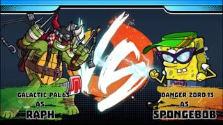 TMNT Raphael vs Nickelodeon Super Brawl World - Part 1/ First look gameplay