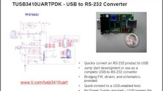 USB-to-Serial Bridge Implementation using the TUSB3410