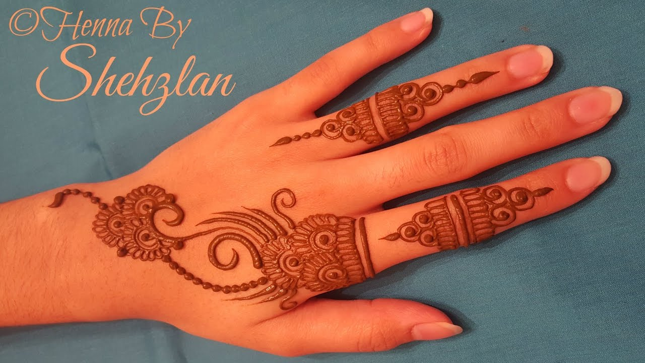 Henna By Shehzlan How To Henna Tutorial 3 Simple Gulf Style