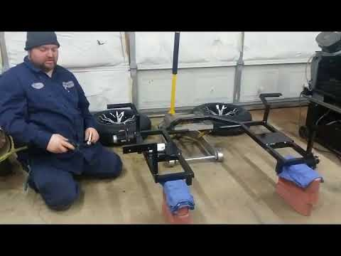 BIC Trikes How to assemble and install a BIC Trikes rear end on a 2006 H-D  Fat-boy part 1