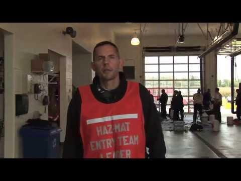 Fire Department Hazmat Training Exercise
