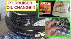 Chrysler PT Cruiser Oil Change .  How to do an oil Change on Chrysler PT CRUISER 2.4 Engine
