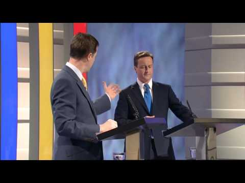 Cameron, Clegg and Brown clash over economy