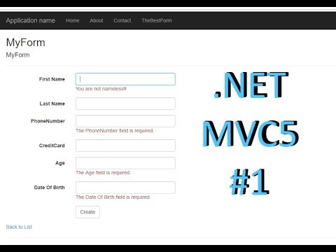 MVC5 Create Model View Controller with Jquery Validation