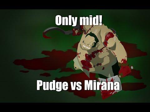 видео: only mid 1 на 1 dota 2 [pudge vs mirana]