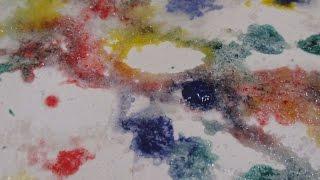 Как рисовать гуашью по соли? Развитие детей от 1,5 до 4-5 лет. Необычное рисование