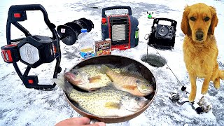 CATCH & COOK while Fishing w/ My Dog!! (DELICIOUS)