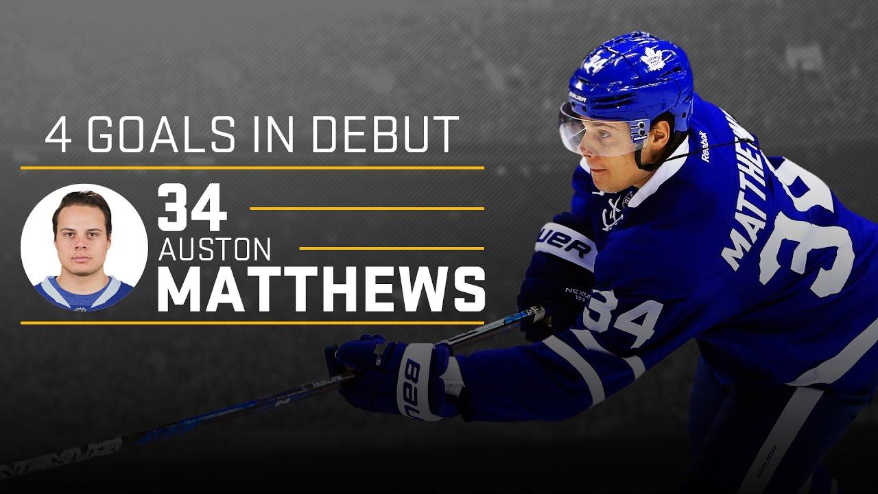 Auston Matthews Scores 4 Goals in NHL Debut vs the Ottawa Senators [HD]
