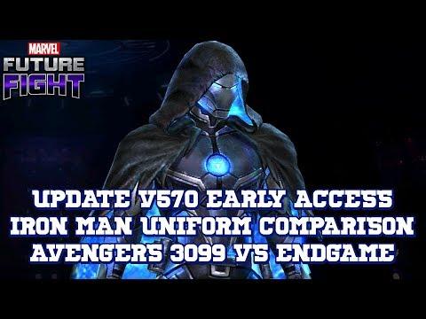 [EARLY ACCESS] IRON MAN AVENGERS 3099 VS ENDGAME - UNIFORM COMPARISON | MARVEL FUTURE FIGHT