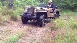 My 1945 Willys CJ2A Playing in The Woods