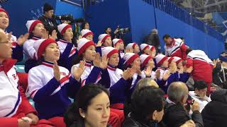 Болельщицы из КНДР круто поют на Олимпиаде / North Korean cheerleaders at the Olympics 2018