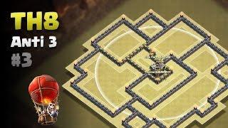 Clash of Clans ⚫ TH8 Anti 3 Star War Base #3 ⚫ No CC Lure