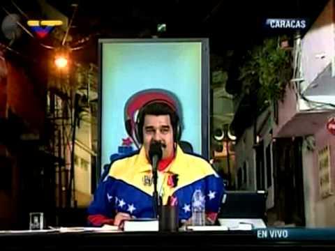 """Maduro """"el programa es tan bueno que hasta el gato se vino"""""""
