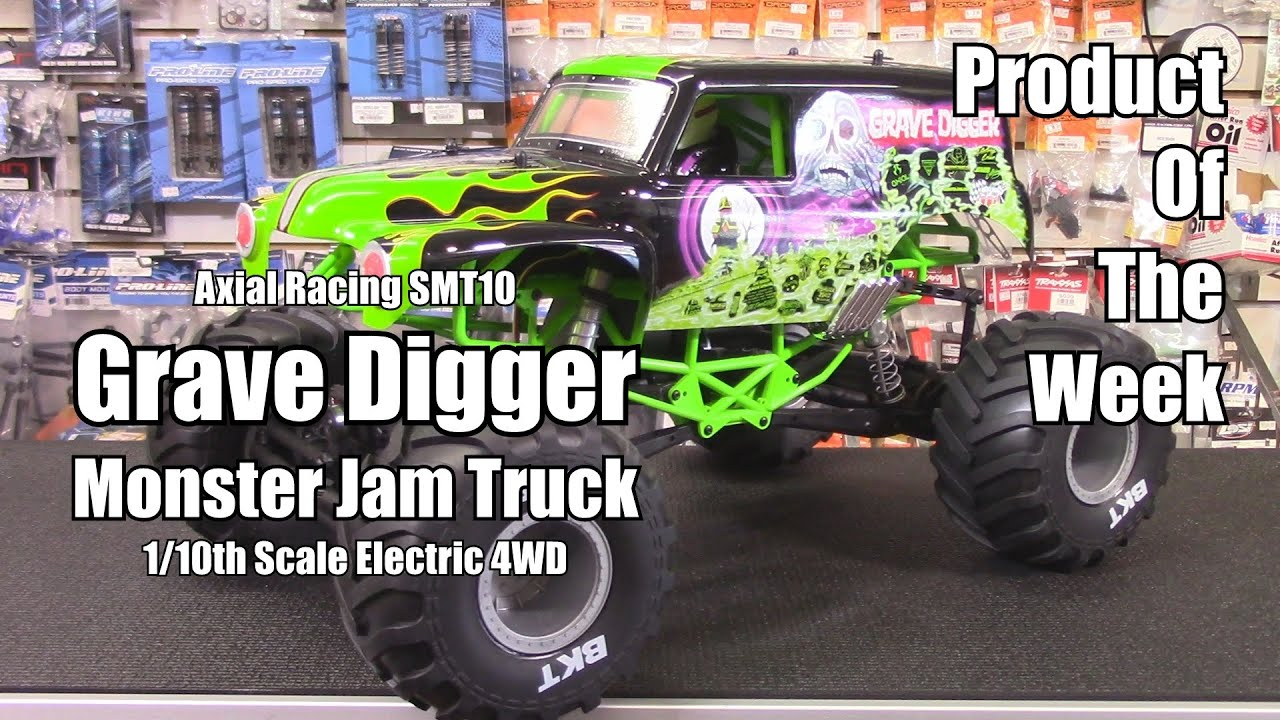 Axial Racing SMT10 Grave Digger Monster Jam Truck 4WD RTR ...