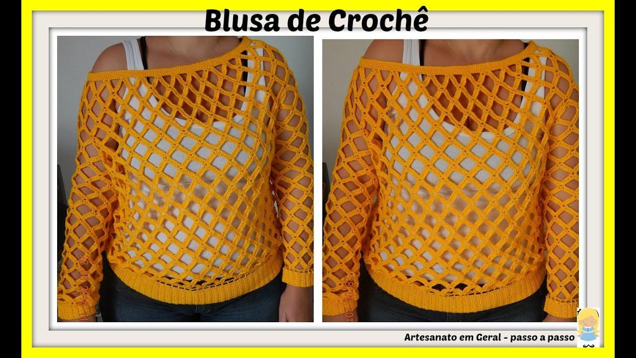 Qual O Correto Artesanato Ou Artesanato ~ Blusa de Croch u00ea YouTube