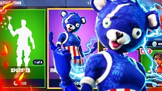 Fortnite New Fireworks Team Leader Skin! New Fourth Of July Skins Update! (New Skins Update)