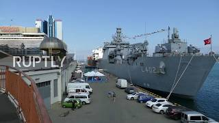 Ukraine: Turkish tank landing ship docks in port of Odessa