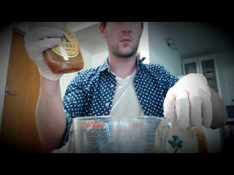 ASMR  tea, lemon, honey, licorice, many triggers: latex gloves, box tapping, writing, crinkling